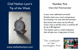 Chef Nathan Lyon Weekly Tip Five