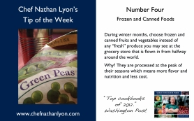 Chef Nathan Lyon Weekly Tip Four