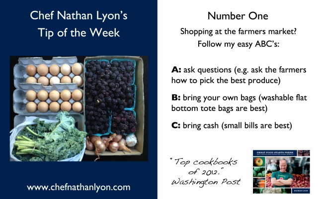 Chef Nathan Lyon Weekly Tip One