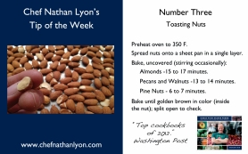 Chef Nathan Lyon Weekly Tip Three