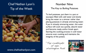 Chef Nathan Lyon Weekly Tip Nine