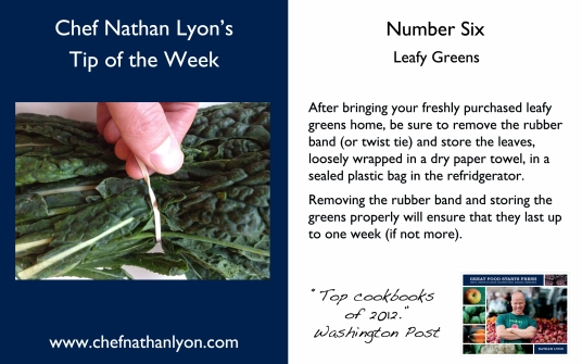 Chef Nathan Lyon Weekly Tip Six