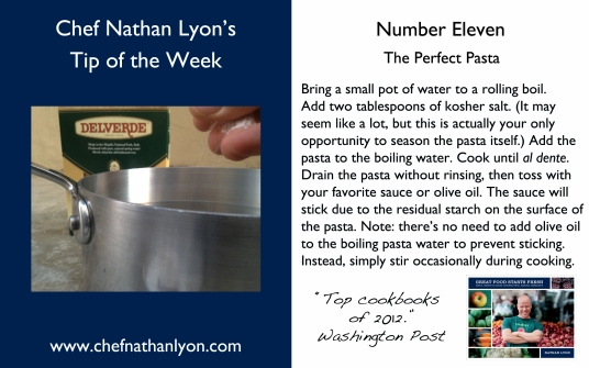 Chef Nathan Lyon Weekly Tip Eleven
