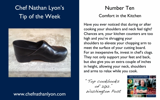Chef Nathan Lyon Weekly Tip Ten