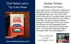 Chef Nathan Lyon Weekly Tip Thirteen