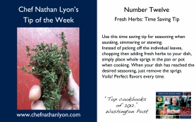 Chef Nathan Lyon Weekly Tip Twelve