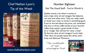 Chef Nathan Lyon Weekly Tip Eighteen