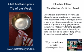 Chef Nathan Lyon Weekly Tip Fifteen