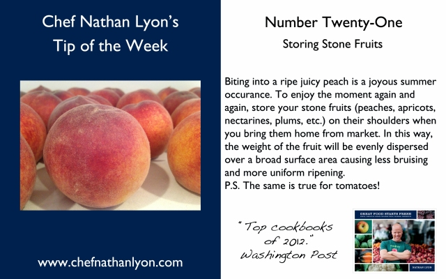 Chef Nathan Lyon Weekly Tip Twenty-One