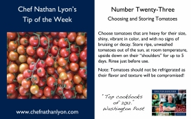 Chef Nathan Lyon Weekly Tip Twenty-Three
