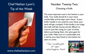Chef Nathan Lyon Weekly Tip Twenty-Two