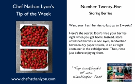 Chef Nathan Lyon Weekly Tip Twenty-Five