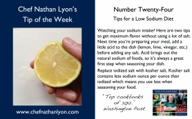 Chef Nathan Lyon Weekly Tip Twenty-Four