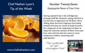 Chef Nathan Lyon Weekly Tip Twenty-Seven