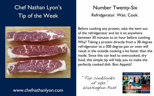 Chef Nathan Lyon Weekly Tip Twenty-Six