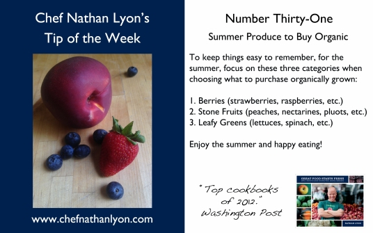 Chef Nathan Lyon Weekly Tip Thirty-One
