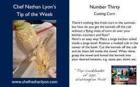 Chef Nathan Lyon Weekly Tip Thirty