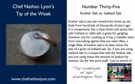 Chef Nathan Lyon Weekly Tip Thirty-Five