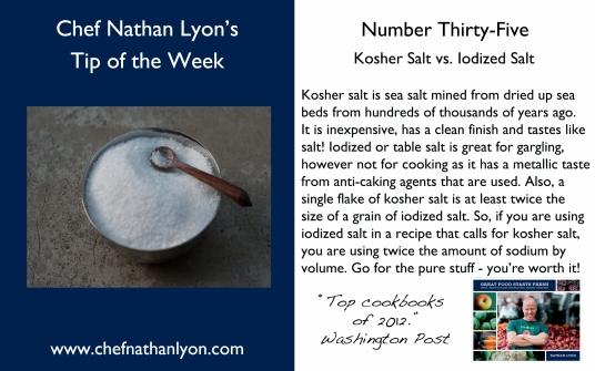 Chef Nathan Lyon Weekly Tip Thirty-Five