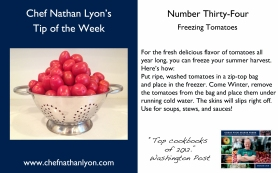 Chef Nathan Lyon Weekly Tip Thirty-Four
