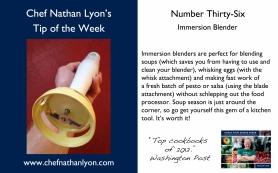 Chef Nathan Lyon Weekly Tip Thirty-Six