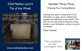 Chef Nathan Lyon Weekly Tip Thirty-Three