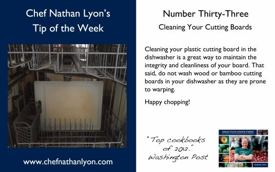 Chef Nathan Lyon Weekly Tip Thirty-Three