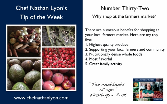 Chef Nathan Lyon Weekly Tip Thirty-Two