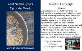 Chef Nathan Lyon Weekly Tip Thirty-Eight