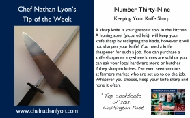 Chef Nathan Lyon Weekly Tip Thirty-Nine