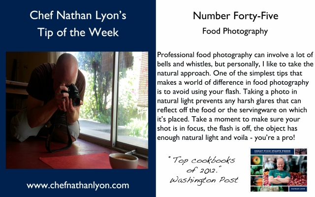 Chef Nathan Lyon Weekly Tip Forty-Five