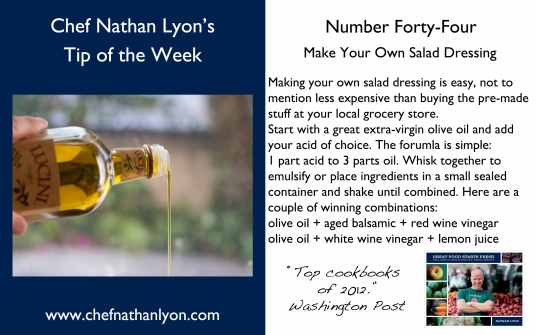 Chef Nathan Lyon Weekly Tip Forty-Four