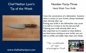 Chef Nathan Lyon Weekly Tip Forty-Three