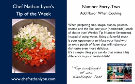 Chef Nathan Lyon Weekly Tip Forty-Two