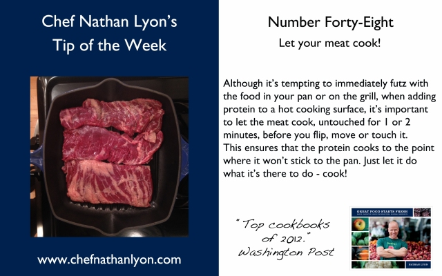 Chef Nathan Lyon Weekly Tip Forty-Eight