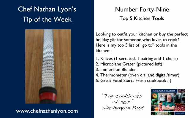 Chef Nathan Lyon Weekly Tip Forty-Nine