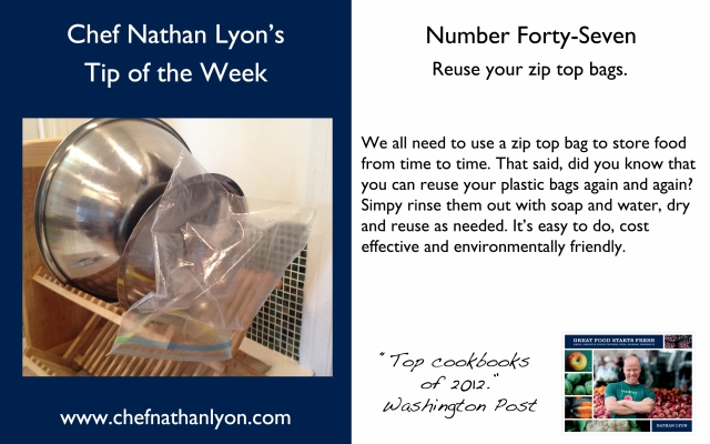 Chef Nathan Lyon Weekly Tip Forty-Seven