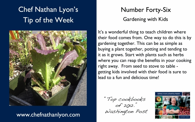 Chef Nathan Lyon Weekly Tip Forty-Six