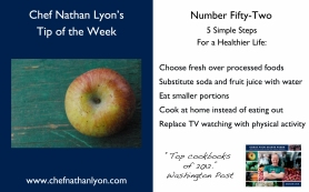 Chef Nathan Lyon Weekly Tip Fifty-Two