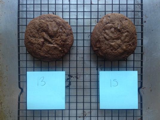 choc choc chip cookie testing