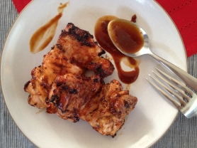 Grilled Chicken Thighs with Homemade Barbecue Sauce