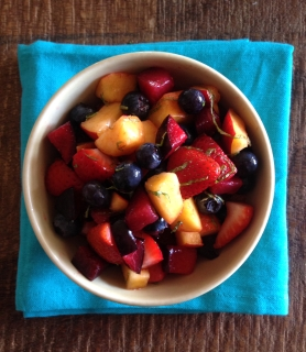 Summer Fruit Salad with Fresh Mint