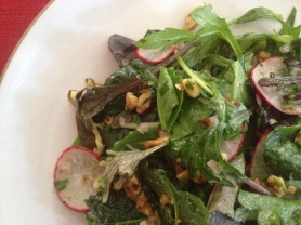 Mixed Herb Salad with Toasted Walnuts