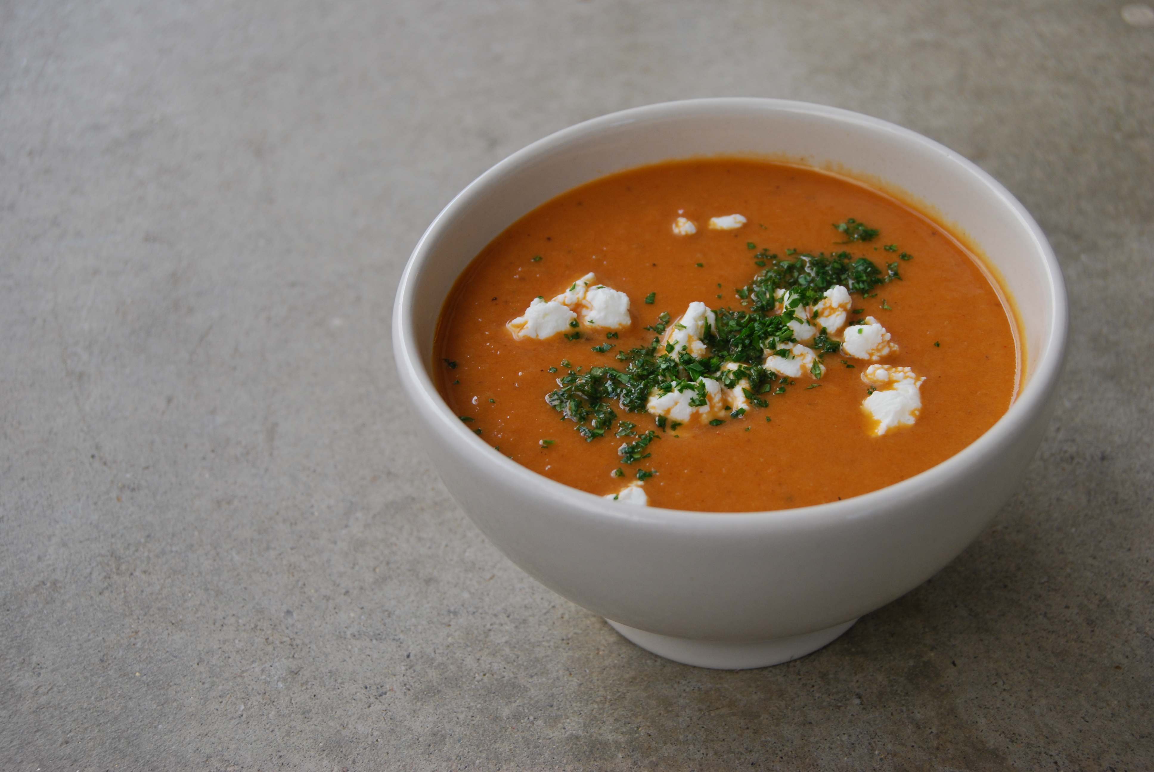 Spiced Roasted Eggplant Tomato Soup with Fresh Goat Cheese | Chef ...