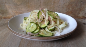 Sweet Pickled Cucumber and Fennel Salad
