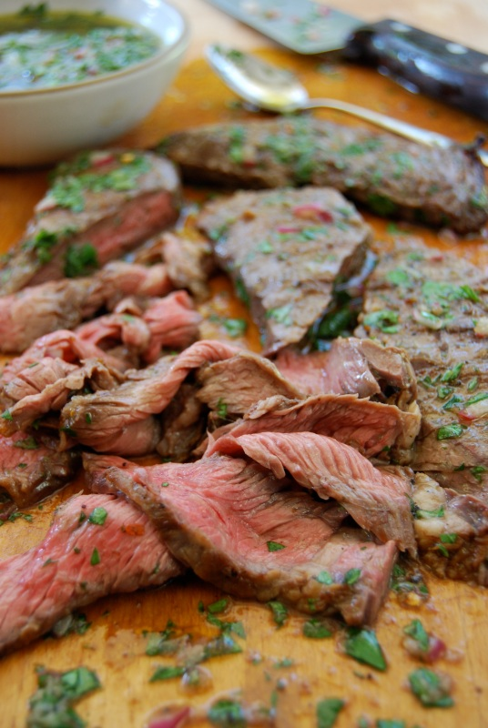 Grilled Skirt Steak with Chimichurri Sauce | Chef Nathan Lyon