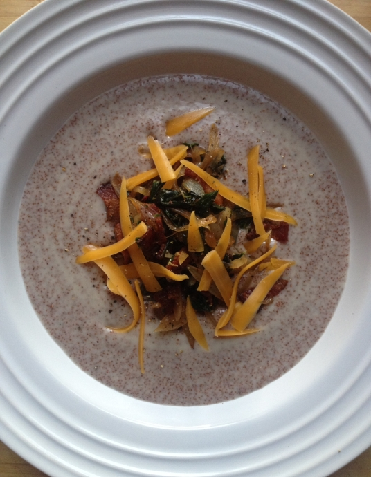 Teff Polenta with Sauteed Onions