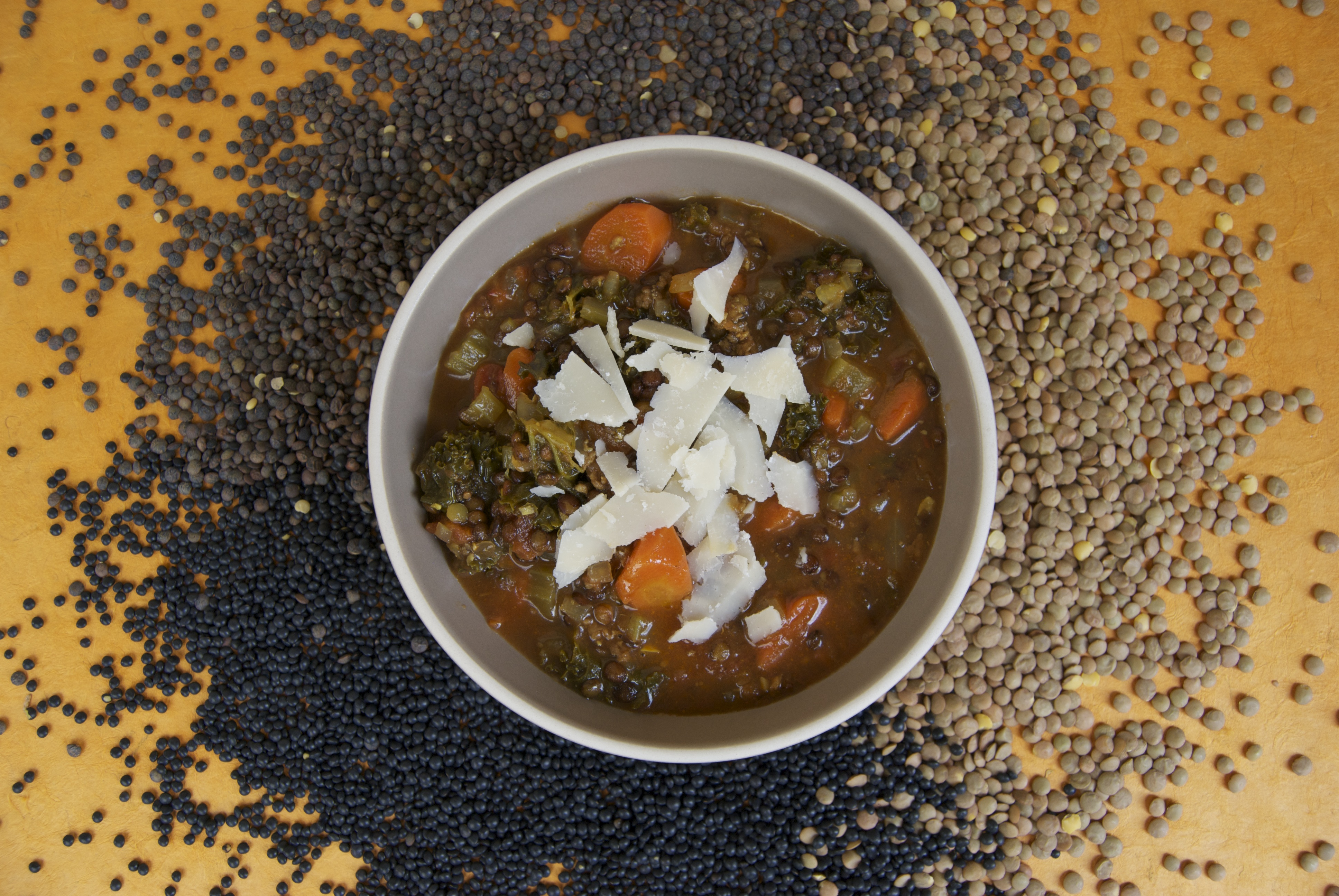 Lentil Stew with Spicy Sausage and Kale | Chef Nathan Lyon