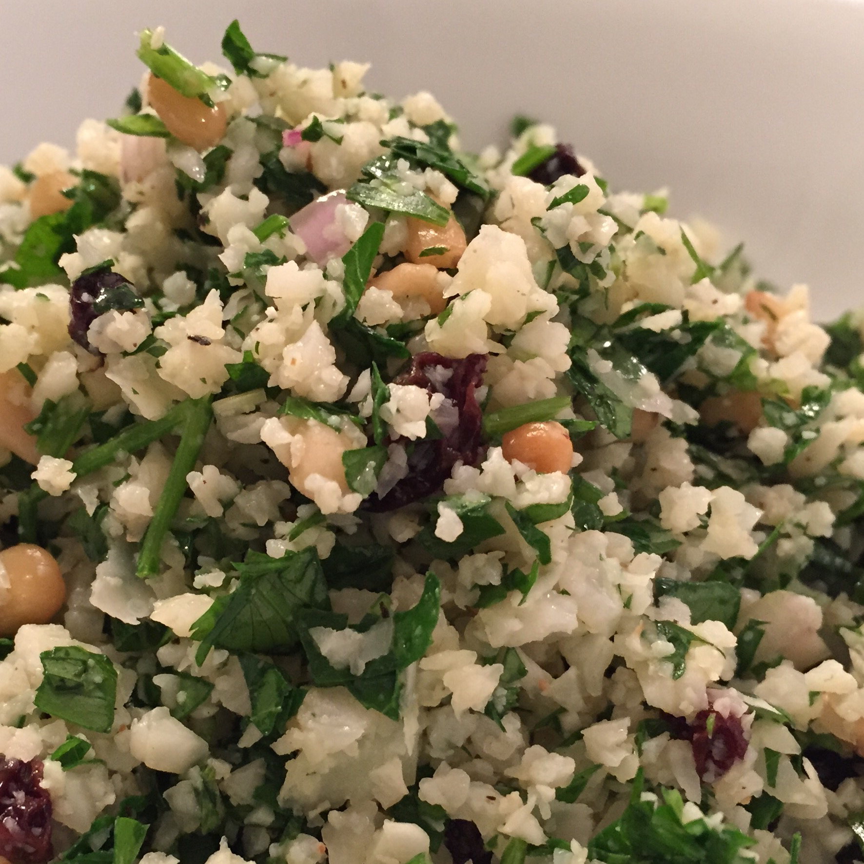 """Cauliflower """"Couscous"""" Salad with Currants, Pine Nuts and Fresh ..."""