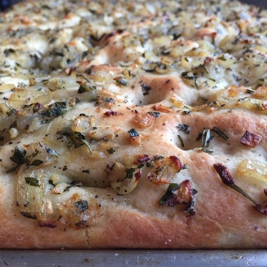 cooked foccacia